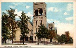 South Carolina Spartanburg First Baptist Church Curteich - Spartanburg
