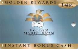 Golden Mardi Gras Casino - Black Hawk, CO - BLANK Slot Card - Casino Cards