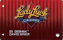 Lady Luck Casino Las Vegas, NV - Slot Card - Copyright 2008 - Casino Cards