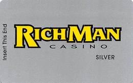 RichMan Casino Black Hawk, CO - BLANK Silver Slot Card - Logo 17mm From Top - Casino Cards