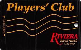 Riviera Casino - Black Hawk CO - BLANK 5th Issue Slot Card - ACC & UPPER Case Web Adr - Casino Cards