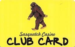Sasquatch Casino Black Hawk, CO - BLANK Slot Card - Casino Cards