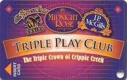 Midnight Rose/JP McGills/Brass Ass Casinos CO - BLANK Triple Play Slot Card - Cpi 2051262 Over Mag Stripe - Casino Cards