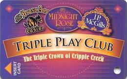 Midnight Rose/JP McGills/Brass Ass Casinos CO - BLANK Triple Play Slot Card - Cpi 2033336 Over Mag Stripe - Casino Cards