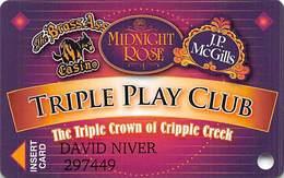Midnight Rose/JP McGills/Brass Ass Casinos CO - BLANK Triple Play Slot Card - Cpi 2055021 Over Mag Stripe - Casino Cards
