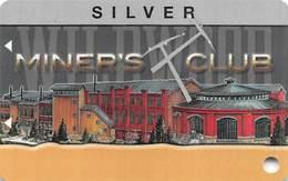 Wildwood Casino Cripple Creek CO BLANK Silver Miner's Club Card / Slot Card - Casino Cards