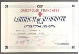 25437 - CROIX ROUGE FRANCAISE - Diplomas Y Calificaciones Escolares