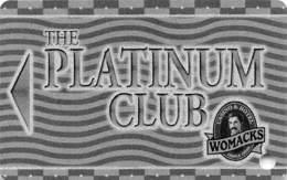 Womacks Casino Cripple Creek CO Slot Card - BLANK Platinum Club - White Reverse - Casino Cards