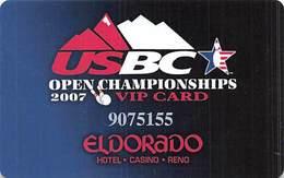 Eldorado Casino - Reno NV - USBC Bowling Tournament 2007 VIP Slot Card - Casino Cards