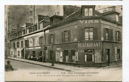 CPA  75  : PARIS Autrefois : Rue Campagne Première  VOIR  DESCRIPTIF  §§§ - France