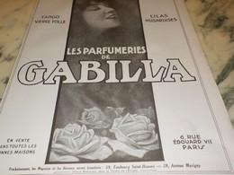 ANCIENNE   PUBLICITE  PARFUM  DE GABILLA 1923 - Sin Clasificación