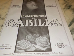 ANCIENNE   PUBLICITE  PARFUM  DE GABILLA 1923 - Parfum & Cosmetica