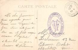 PIE-Z RO-19-3519 : CACHET FRANCHISE POSTALE. UNION DES FEMMES DE FRANCE. HOPITAL AUXILIARE N° 104. SAINT-LEU. VAL D'OISE - Postmark Collection (Covers)
