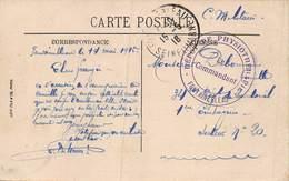PIE-Z RO-19-3522 : CACHET FRANCHISE POSTALE. DEPOT DE PHYSIOTHERAPIE. FONTAINEBLEAU. SEINE ET MARNE. - Oorlog 1914-18