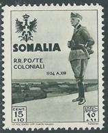 1935 SOMALIA VISITA DEL RE 15 CENT MH * - RB32-8 - Somalia