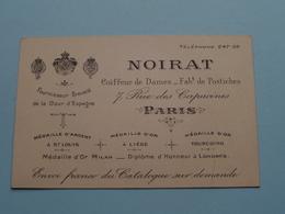 """Coiffeur De Dames / Fabt De Postiches """" NOIRAT """" 7 Rue Des Capucines PARIS ( Voir / Zie Foto ) ! - Cartes De Visite"""