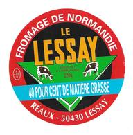 ETIQUETTE De FROMAGE..CAMEMBERT De NORMANDIE..Le Lessay...REAUX à LESSAY ( Manche 50) - Fromage