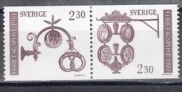 Schweden 1981 - Freimarken: Handwerkerschilder, Mi-Nr. 1166/67, MNH** - Suède