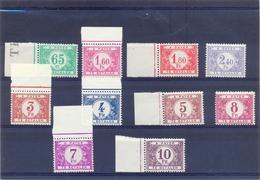Nrs.TX56/TX65  Postgaaf ** Zeer Mooi MNH - Briefmarken