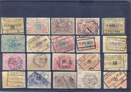 Een Lot Gestempeld Met Minder Courante Postkantoren - Railway