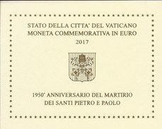 Vaticano, 2017,  2 E. Fior Di Conio Santi Pietro E Paolo, Vatikan State. - Vatican