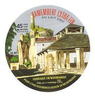 ETIQUETTE De FROMAGE..CAMEMBERT Fabriqué En NORMANDIE ( Calvados 14-AF)..pour Ets DERIEN à BERGERAC (24) - Fromage