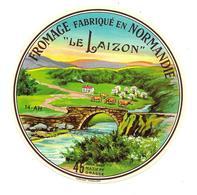 ETIQUETTE De FROMAGE..CAMEMBERT Fabriqué En NORMANDIE ( Calvados 14-AH)..Le Laizon - Fromage