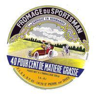 ETIQUETTE De FROMAGE..FROMAGE Du SPORTSMAN Fabriqué En NORMANDIE ( Calvados 14-AH)..F.L.S.A. St PIERRE Sur DIVES (14) - Fromage