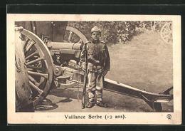 AK Vaillance Serbe, 12 Ans, Soldat In Uniform, Kinder Kriegspropaganda - Weltkrieg 1914-18