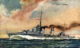 HMS - SOMALI - Marine  Battleship  Kriegsschiff, Warship - Guerra
