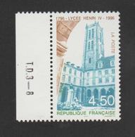 FRANCE / 1996 / Y&T N° 3032 ** : Lycée Henri IV à Paris X 1 BdF G Avec N° De Presse - France
