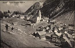 Cp Bosco/Gurin Kanton Tessin, Panorama, Valle Maggia - TI Tessin