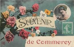 CPA 55 Meuse Commercy Souvenir De - Roses - Femme - Commercy