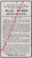 En 1949- BAILLEUL  (59)  Alice STAES Enfant De Marie Tertiaire St François-action Catholique 57 Ans - Avvisi Di Necrologio