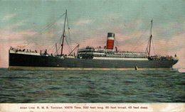 Steamer S.S. Tunisian Allan Line - Paquebote