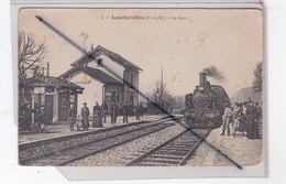Lescherolles (77) La Gare (avec Train) - France