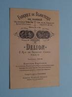 """Fabrique De BIJOUTERIE """" DELION """" 2 Rue De Franche-Comte PARIS ( Voir / Zie Foto ) ! - Cartes De Visite"""