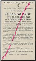 En 1927 Flètre Et Bailleul (59) Julien SAVAGE Ep Angèle BECK 61 Ans - Avvisi Di Necrologio