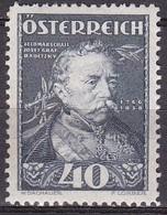 Osterreich / Austria 1935 Wohlfahrt Feldmarschall Radetzky 40 + 40 G Blau Mi 620 Falzlos - 1918-1945 1ste Republiek