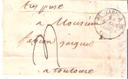Hautes Pyrénées :- TARBES Dateur Type 12 Taxe 4 Manuscrite - 1801-1848: Vorläufer XIX