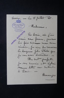FRANCE - Lettre De L 'Hôtel Splendide Royal & Excelsior De Aix Les Bains écrite Par L 'Amiral Guépratte En 1938- L 48528 - Vecchi Documenti