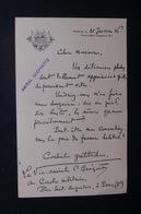 FRANCE - Lettre  écrite Par L 'Amiral Guépratte En 1936 - L 48530 - Documenten