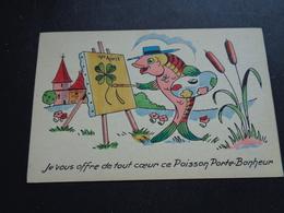 Carte ( 632 )  De Fantaisie  Fantasie   Thème  :  Poisson D' Avril  Aprilvis  1 April - 1° Aprile (pesce Di Aprile)