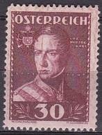 Osterreich / Austria 1935 Wohlfahrt Erzherzog Karl 30 + 30 G Karmin Mi 619 Falzlos - 1918-1945 1ste Republiek