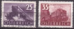 Osterreich / Austria 1937 100 Jahre Osterreichische Eisenbahn 25-35 G Mi 647-648 - 1918-1945 1ste Republiek