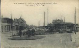 CPA 62 ETAPLES La Gare, Les Principaux Hotels Tramway De Paris-Plage - Etaples