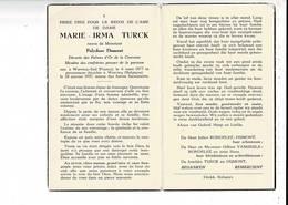 DP 8723 - MARIE TURCK - WERVICQ SUD ( FRANCE ) 1877 + WERVICQ ( BELGIQUE ) 1957 - Imágenes Religiosas