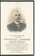 JANSSENS Franciscus °1855 Stabroek +1923 Antwerpen Ech De Wolf Doodsprentje Image Mortuaire Immaginetta Funeral Card - Religion & Esotérisme