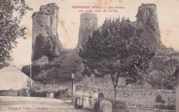 Hérisson Les Ruines  Vue Prise Route De Cérilly - Other Municipalities