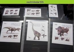 Nff219c FAUNA PREHISTORIC ANIMALS DINOSAURUS TRICERATOPS TYRANNOSAUR DINOSAURS PRÄHISTORISCHE TIERE UGANDA 2012 PF/MNH # - Stamps